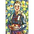 03012 Момиче сред ябълки