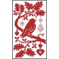 07017 Новогодишна птичка