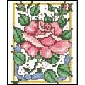 07064 Роза с лилава панделка