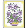 07068 Виолетки във ваза