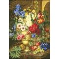 10001 Натюрморт с ананас и цветя