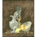 10006 Натюрморт с лимони  и сребърни съдове