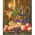 10017 Натюрморт с праскови и грозде