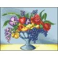 10020 Натюрморт с цветя и грозде