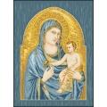 14003 Мадона с младенец синя