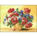 15009 Ваза с макове и полски цветя