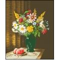 15019 Ваза с градински цветя